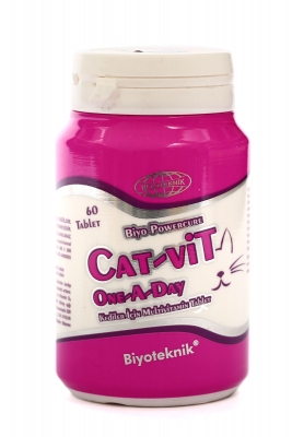 Biyoteknik Cat-Vit One-A-Day Kediler İçin Multivitamin Tablet 60 Tb